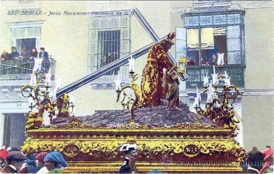 SEMANA SANTA DE SEVILLA: JESÚS NAZARENO. PARROQUIA DE LA O. MANUEL BARREIROS Nº 525 (Postales - España - Andalucía Antigua (hasta 1939))