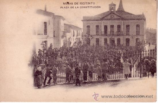 MINAS DE RIOTINTO - PLAZA DE LA CONSTITUCION - SIN CIRCULAR (Postales - España - Andalucía Antigua (hasta 1939))