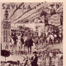 Postales: POSTAL SEVILLA - CARTEL FERIA DE ABRIL - SERRANO. Lote 39299545