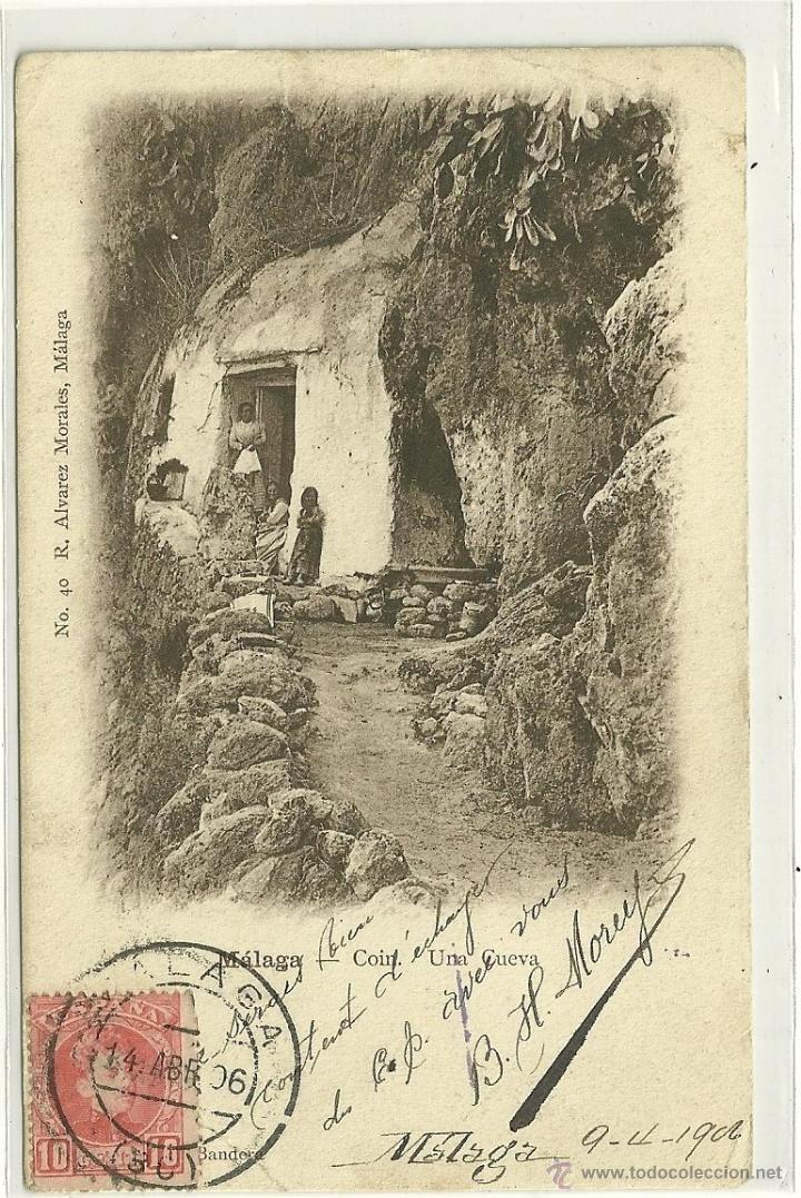 MÁLAGA.- COIN.- UNA CUEVA (Postales - España - Andalucía Antigua (hasta 1939))