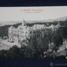 Postales: POSTAL FOTOGRÁFICA SIN CIRCULAR 22 MÁLAGA AYUNTAMIENTO L. ROISIN FOT. BARCELONA. Lote 39643531