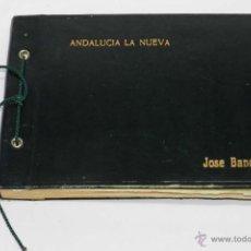 Postales: ALBUM DEL PROYECTO DE CONTRUCCION DE ANDALUCIA LA NUEVA, MARBELLA, (MALAGA), POR JOSE BANÚS, COMPUES. Lote 133709213