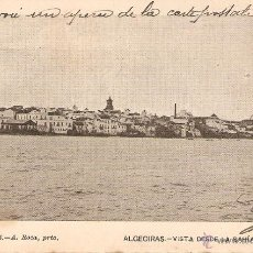 Postales: ALGECIRAS - VISTA DESDE LA BAHIA EDITA FOTG. A. ROCA CIRCULADA EN1904. Lote 39843369
