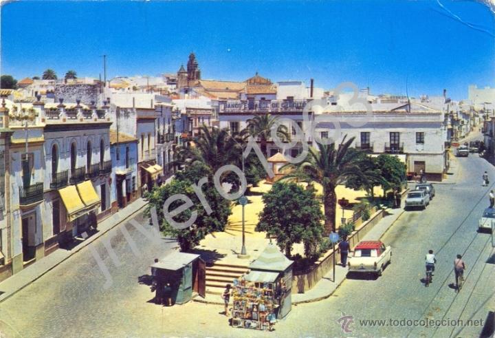ALCALA DE GUADAIRA,PLAZA DE FALANGE ESPAÑOLA,EDIT.RA-CAR,MUY RARA (Postales - España - Andalucia Moderna (desde 1.940))