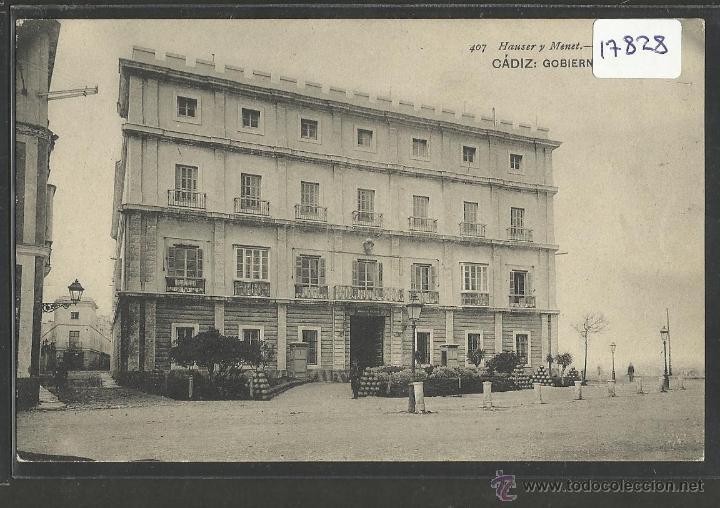 CADIZ - 407 - GOBIERNO MILITAR- HAUSER Y MENET - (17828) (Postales - España - Andalucía Antigua (hasta 1939))