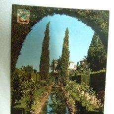 Postales: POSTAL GRANADA - GENERALIFE - JARDINES - 1963 - SIN CIRCULAR - DOMINGUEZ 8. Lote 40055522