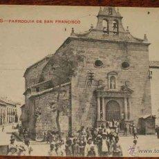 Postales: ANTIGUA POSTAL DE LINARES - PARROQUIA DE SAN FRANCISCO - CIRCULADA - ED. CASTAÑEIRA Y ALVAREZ.. Lote 39549331