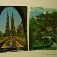 Postales: LOTE POSTALES GRANADA .-JARDINES GENERALIFE . Lote 40297605