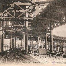 Postales: MUELLE DE RIO TINTO - HUELVA PAPELERIA INGLESA CIRCULADA EN 1910. Lote 40375203