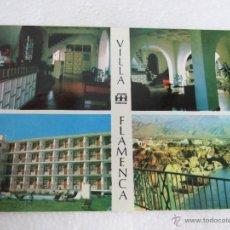 Postales: POSTAL MALAGA - NERJA - VILLA FLAMENCA - PUENTE CULTURAL - 1970 -CIRCULADA - . Lote 40379477