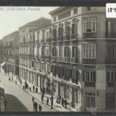 Postales: MALAGA - 23 - HOTEL SIMON . FACHADA - FOTOGRAFICA - (18454). Lote 40617957