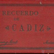 Postales: (PS-38277)BLOK DE 12 FOTOTIPIAS DE HAUSER Y MENET,SIGLO XIX,CADIZ. Lote 40902698