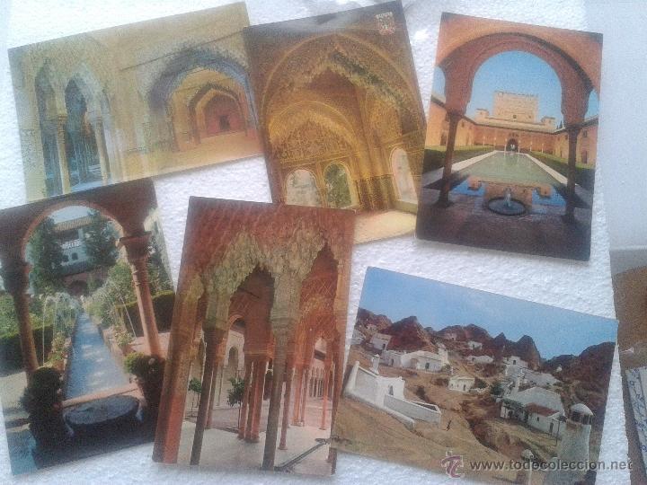 LOTE DE 6 POSTALES ANTIGUAS DE GRANADA (Postales - España - Andalucia Moderna (desde 1.940))