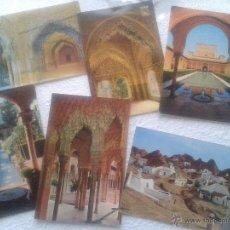Postales: LOTE DE 6 POSTALES ANTIGUAS DE GRANADA. Lote 41012501