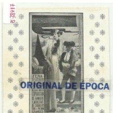 Postales: (PS-38417)POSTAL DE SEVILLA-CARTEL DE SEMANA SANTA Y FERIAS DE 1907. Lote 41025157