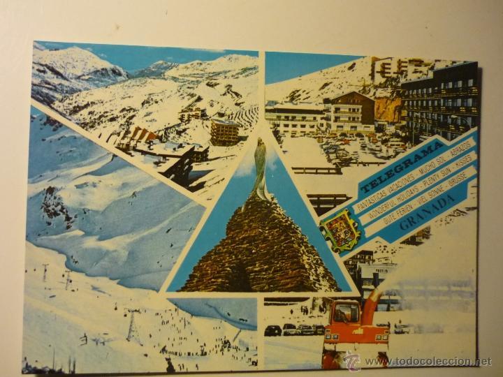 POSTAL GRANADA SIERRA NEVADA.-ESCRITA (Postales - España - Andalucia Moderna (desde 1.940))