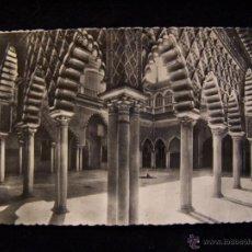 Postales: POSTAL FOTOGRÁFICA EL ALCÁZAR CIRCULADA 1955 HELIOTIPIA ARTÍSTICA ESP. PATIO DE LAS DONCELLAS SEVILL. Lote 41326110