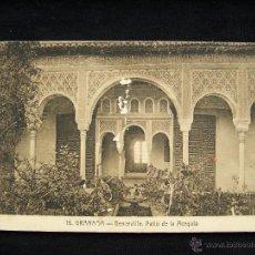 Postales: POSTAL ANTIGUA CIRCULADA 1921 FOTÓGRAFO ABELARDO LINARES ALHAMBRA GRANADA. Lote 41335940