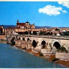 Postales: CORDOBA. PUENTE ROMANO AL FONDO VISTA PARCIAL.. Lote 41434511