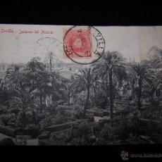 Postales: POSTAL FOTOGRÁFICA CIRCULADA 1910 UNIÓN POSTAL U. SEVILLA JARDINES DEL ALCAZAR SERIE Nº 1904-28013. Lote 41505440