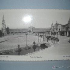 Postales: PRECIOSA POSTAL FOTOGRAFICA CIRCULADA ,PLAZA DE ESPAÑA DE SEVILLA. Lote 41532197