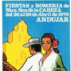 Postales: POSTAL FIESTAS Y ROMERIA DE NTRA SRA DE LA CABEZA 26-29 ABRIL 1979 ANDUJAR-JAEN SIN CIRCULAR. Lote 41547509