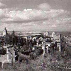 Postales: GRANADA Nº 7 POSTAL FOTOGRÁFICA DE LA ALHAMBRA VISTA DESDE EL GENERALIFE ED. SICILIA SIN CIRCULAR . Lote 41565344