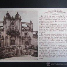 Postales: POSTAL CÁDIZ. JEREZ DE LA FRONTERA. LA COLEGIATA. . Lote 42049399