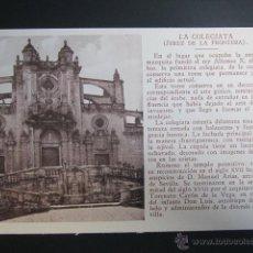 Postales: POSTAL CÁDIZ. JEREZ DE LA FRONTERA. LA COLEGIATA.. Lote 42050180