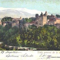 Postkarten - PS3862 GRANADA 'VISTA GENERAL DE LA ALHAMBRA'. PURGER&CO. CIRCULADA EN 1910 - 42106193
