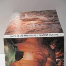Postales: BLOC POSTAL GRUTA DE LAS MARAVILLAS ARACENA HUELVA 1985. DESPLEGABLE DE 10 POSTALES. Lote 42146947