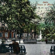 Postales: CADIZ.PLAZA DE MINA. AÑO 1907. Lote 42521188