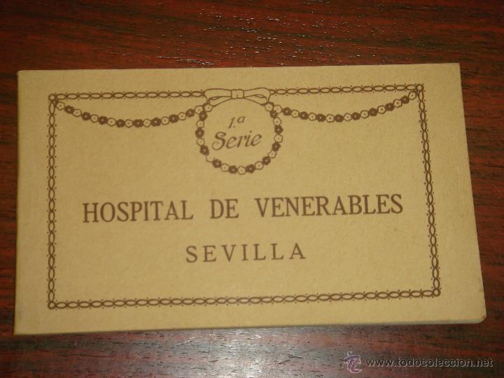 ANTIGUO ALBUM DE 15 POSTALES DE HOSPITAL DE VENERABLES. SEVILLA. SERIE 1ª. THOMAS. (Postales - España - Andalucía Antigua (hasta 1939))