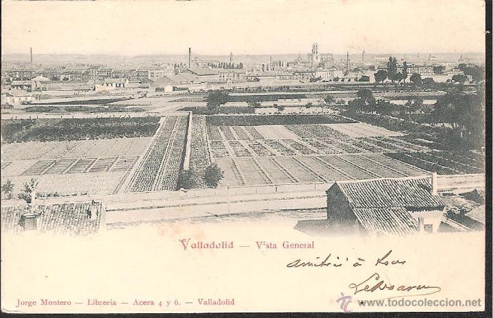 POSTAL VALLADOLID VISTA GENERAL EDITA LIBRERIA JORGE MONTERO AÑO 1904 -EXCELENTE POSTAL- (Postales - España - Andalucía Antigua (hasta 1939))