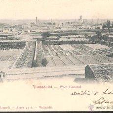 Postales: POSTAL VALLADOLID VISTA GENERAL EDITA LIBRERIA JORGE MONTERO AÑO 1904 -EXCELENTE POSTAL-. Lote 42677885