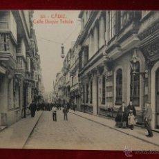 Postales: ANTIGUA POSTAL DE CADIZ. CALLE DUQUE TETUAN. FOT. THOMAS. SIN CIRCULAR. Lote 42705481