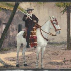 Postales: SEVILLA - UN GANADERO ANDALUZ - REVERSO SIN DIVIDIR - PURGER & CO - (21247). Lote 42833472