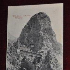 Postales: ANTIGUA POSTAL DE MALAGA. EL CHORRO, EL GAITAN. SIN CIRCULAR. Lote 89536658