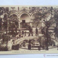 Postales: POSTAL SEVILLA, PATIO DEL ASILO DE VENERABLES SACERDOTES. Lote 42900382