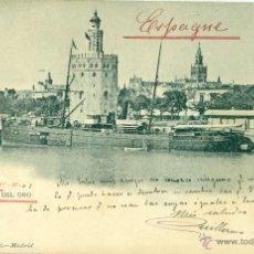 Postales: SEVILLA. TORRE DEL ORO. CIRCULADA EN 1903.. Lote 42944219
