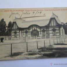 Postales: JEREZ DE LA FRONTERA PARQUE GONZALEZ HONTORIA CHALET DE LA EXPOSICION DE GANADOS. Lote 42981385