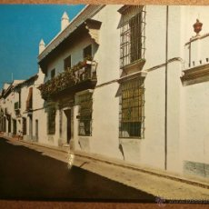 Postales: POSTAL - MOGUER - FACHADA CASA-MUSEO JUAN RAMÓN JIMENEZ - HUELVA - IMPRENTA BORRERO - NO ESCRITA . Lote 43228587