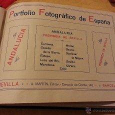 Postales: PORTFOLIO FOTOGRAFICO DE ESPAÑA. SEVILLA, OSUNA, ECIJA, MORON, CARMONA, MARCHENA, CAZALLA, SANLUCAR,. Lote 43260215