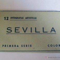 Postales: SEVILLA 12 FOTOGRAFIAS ARTISTICAS PRIMERA SERIE COLOR. Lote 43284397