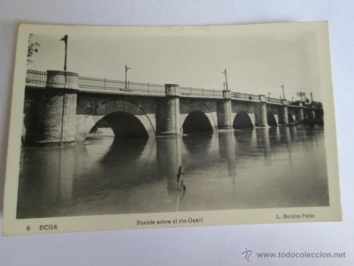 ECIJA PUENTE SOBRE EL RIO GENIL FOTO ROISIN 6 - 1957 (Postales - España - Andalucia Moderna (desde 1.940))