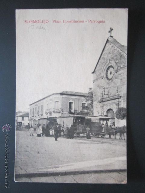 POSTAL JAEN. PLAZA CONSTITUCIÓN, PARROQUIA. (Postales - España - Andalucía Antigua (hasta 1939))