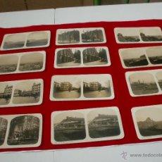 Postales: ALMERIA POSTALES ESTEREOSCOPIAS ANTIGUAS 12 VISTAS. Lote 43612251