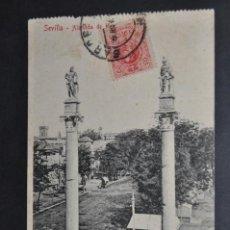 Postales: ANTIGUA POSTAL DE SEVILLA. ALAMEDA DE HERCULES. CIRCULADA. Lote 43728863