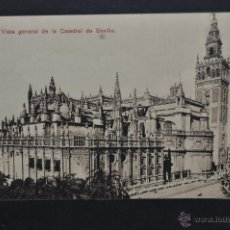 Postales: ANTIGUA POSTAL DE SEVILLA. VISTA GENERAL DE LA CATEDRAL. SIN CIRCULAR. Lote 43728904