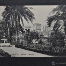 Postales: ANTIGUA POSTAL DE SEVILLA. ALCAZAR, JARDINES. SIN CIRCULAR. Lote 43729492